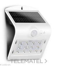 LUCECO LEXS22W40-01 LUCECO SOLAR GUARDIAN PIR WALL LIGHT WHITE IP65 1.5W 220LM 4000K STD