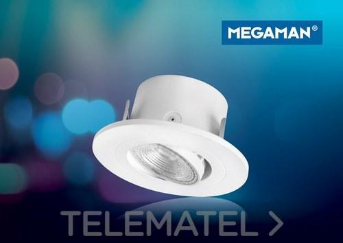 Downlight orientable ANNA 5W 2800K blanco con referencia 53860 de la marca MEGAMAN.
