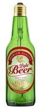 Lámpara con forma de botella LightBeer 8W 2800K E27 verde y con etiqueta con referencia 53419+53440 de la marca MEGAMAN.