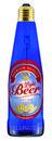 Lámpara con forma de botella LightBeer 8W 4200K E27 azul y con etiqueta con referencia 53426+53440 de la marca MEGAMAN.