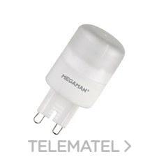 Lámpara led BIPIN 3W G9 230V 4000K dimable con referencia 36917 de la marca MEGAMAN.