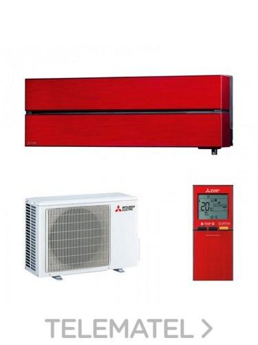 Conjunto MSZ-LN25VG + MUZ-LN25VG split Kirigamine Style pared rojo con referencia MSZ-LN25VGR de la marca MITSUBISHI ELECTRIC.