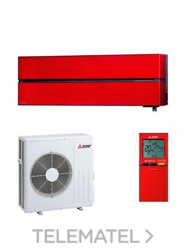 Conjunto MSZ-LN60VG + MUZ-LN60VG split Kirigamine Style pared rojo con referencia MSZ-LN60VGR de la marca MITSUBISHI ELECTRIC.