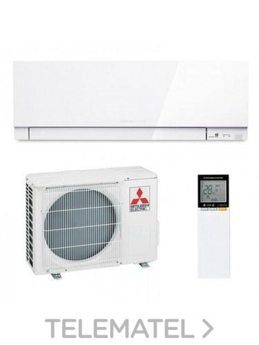 Conjunto pared 1x1 MSZ-EF25VGK blanco R32 con adaptador WIFI con referencia MSZ-EF25VGK-W de la marca MITSUBISHI ELECTRIC.