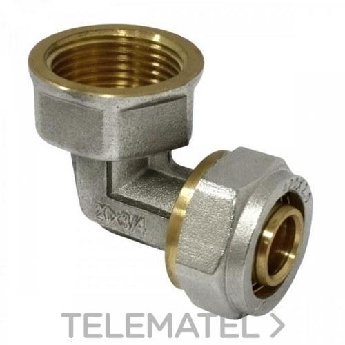 """Codo Hembra-Hembra DN16x1/2"""" con referencia 64109101615 de la marca MT Valves and Fittings."""