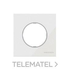 NIESSEN 8671 CB Marco de 1 elemento Skymoon cristal blanco