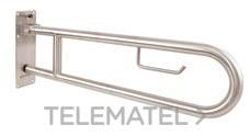 NOFER 15051.80.F Barra apoyo abatible 80cm N-10 acero blanco