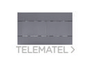 Pulsador Slim mecánico ABS soft touch gris doble descarga con referencia 010216 de la marca OLI.