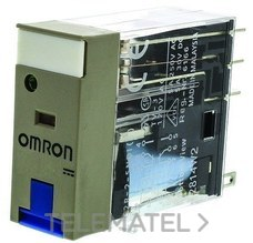 OMRON 125380 RELE 24DC 5A LED+PULSADOR PRUEBA ENCHU.