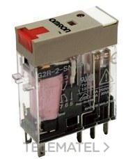 OMRON 125383 RELE 230AC LED+PULSADOR 2 CONTACTOS