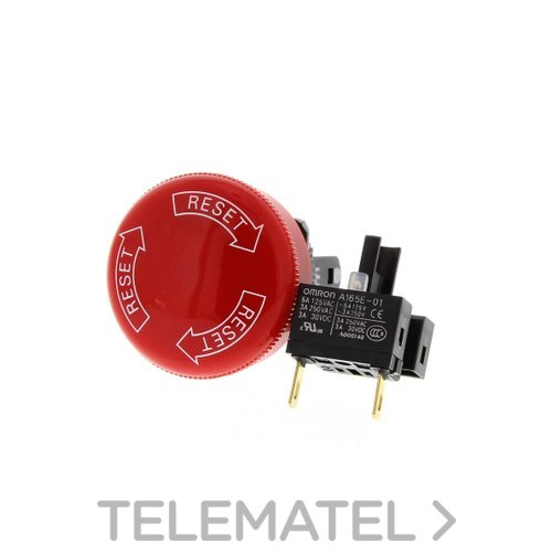 SETA EMERGENCIA 16mm DPST-NC DIAMETRO 30mm con referencia 142200 de la marca OMRON.