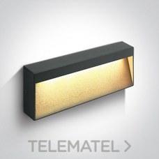 Aplique pared SMD LED 6W 3000K aluminio antracita 230V IP54 con referencia 67359B/AN/W de la marca ONE LIGHT.