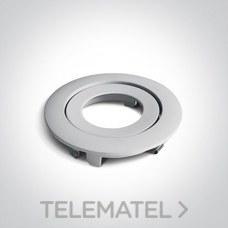 Aro decorativo para downlight 11106PF aluminio blanco con referencia 050044/W de la marca ONE LIGHT.