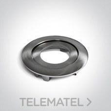 Aro decorativo para downlight 11106PF aluminio cromo cepillado con referencia 050044/MC de la marca ONE LIGHT.