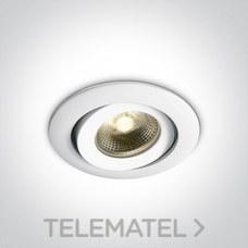 Downlight antiincendios COB LED 6W CW IP20 350mA 40° aluminio blanco con referencia 11106PF/C de la marca ONE LIGHT.