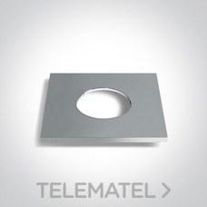 Marco decorativo para downlight 10106PF aluminio cromado con referencia 050042A/C de la marca ONE LIGHT.