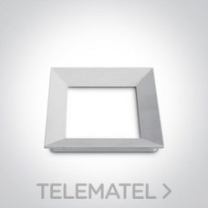 Marco embellecedor para downlight 51112H blanco con referencia 050088/W de la marca ONE LIGHT.