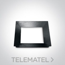 Marco embellecedor para downlight 51112H negro con referencia 050088/B de la marca ONE LIGHT.