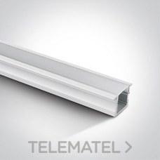 Perfil empotrar aluminio blanco con difusor policarbonato opal 2m 23x15x17mm para tiras LED 10mm con referencia 7904R/W de la marca ONE LIGHT.