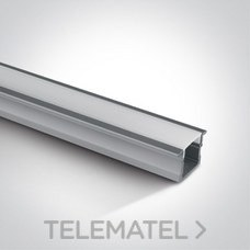 Perfil empotrar aluminio con difusor policarbonato opal 2m 23x15x17mm para tiras LED 10mm con referencia 7904R/AL de la marca ONE LIGHT.