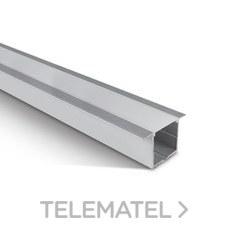 Perfil empotrar aluminio para tiras LED 20mm difusor policarbonato opal 2m con referencia 7910R/AL de la marca ONE LIGHT.