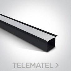 Perfil superficie / suspensión aluminio con difusor policarbonato opal negro 2m para tiras LED dobles con referencia 7910R/B de la marca ONE LIGHT.