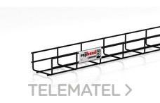 Bandeja de rejilla Rejiband altura 60 mm y ancho 100 mm con borde de seguridad, en acero, acabado BLACK C8 con referencia 60282100 de la marca PEMSA.