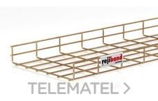 Bandeja de rejilla Rejiband altura 60 mm y ancho 300 mm con borde de seguridad, en acero, acabado bicromatado BYCRO con referencia 60222300 de la marca PEMSA.