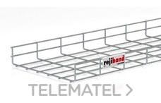 Bandeja de rejilla Rejiband altura 60 mm y ancho 300 mm con borde de seguridad, en acero, acabado electrocincado EZ con referencia 60212300 de la marca PEMSA.