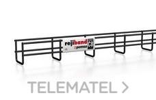 Bandeja de rejilla Rejiband altura 60 mm y ancho 60 mm con borde de seguridad, en acero, acabado BLACK C8 con referencia 60282060 de la marca PEMSA.