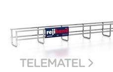 Bandeja de rejilla Rejiband altura 60 mm y ancho 60 mm con borde de seguridad, en acero inoxidable AISI 304 con referencia 60252060 de la marca PEMSA.
