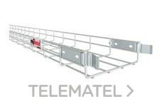 Bandeja de rejilla Rejiband CLICK, altura 60 mm y ancho 60 mm con sistema Click de unión rápida, en acero, acabado electrocincado EZ con referencia 60512060 de la marca PEMSA.