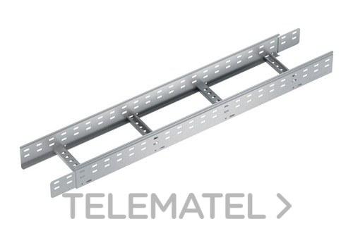Bandeja metálica Megaband® tipo escalera con travesaños clinchados de 100x300 mm con borde de seguridad y alta capacidad de carga, fabricada en acero, acabado pregalvanizado. Longitud 3 m. con referencia 92014300 de la marca PEMSA.