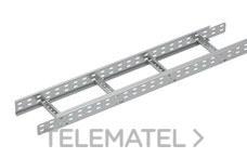 Bandeja metálica Megaband® tipo escalera con travesaños soldados de 60x1000 mm con borde de seguridad y alta capacidad de carga, fabricada en acero, acabado galvanizado caliente GC. Longitud 3 m. con referencia 92032990 de la marca PEMSA.