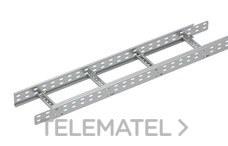 Bandeja metálica Megaband® tipo escalera con travesaños soldados de 60x200 mm con borde de seguridad y alta capacidad de carga, fabricada en acero, acabado galvanizado caliente GC. Longitud 3 m. con referencia 92032200 de la marca PEMSA.