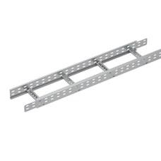Bandeja metálica Megaband® tipo escalera con travesaños soldados de 60x200mm con borde de seguridad y alta capacidad de carga, fabricada en acero, acabado en galvanizado caliente GC. Longitud 3 m. con referencia 92032200 de la marca PEMSA.