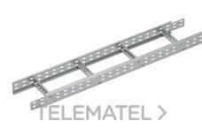 Bandeja metálica Megaband® tipo escalera con travesaños soldados de 60x400 mm con borde de seguridad y alta capacidad de carga, fabricada en acero, acabado galvanizado caliente GC. Longitud 3 m. con referencia 92032400 de la marca PEMSA.