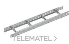 Bandeja metálica Megaband® tipo escalera con travesaños soldados de 60x800 mm con borde de seguridad y alta capacidad de carga, fabricada en acero, acabado galvanizado caliente GC. Longitud 3 m. con referencia 92032800 de la marca PEMSA.
