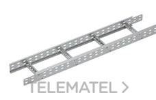 Bandeja metálica Megaband® tipo escalera con travesaños soldados de 60x900 mm con borde de seguridad y alta capacidad de carga, fabricada en acero, acabado galvanizado caliente GC. Longitud 3 m. con referencia 92032900 de la marca PEMSA.