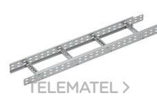 Bandeja metálica Megaband® tipo escalera con travesaños soldados de 85x200 mm con borde de seguridad y alta capacidad de carga, fabricada en acero, acabado galvanizado caliente GC. Longitud 3 m. con referencia 92033200 de la marca PEMSA.