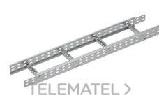 Bandeja metálica Megaband® tipo escalera con travesaños soldados de 85x300 mm con borde de seguridad y alta capacidad de carga, fabricada en acero, acabado galvanizado caliente GC. Longitud 3 m. con referencia 92033300 de la marca PEMSA.