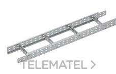 Bandeja metálica Megaband® tipo escalera con travesaños soldados de 85x500 mm con borde de seguridad y alta capacidad de carga, fabricada en acero, acabado galvanizado caliente GC. Longitud 3 m. con referencia 92033500 de la marca PEMSA.