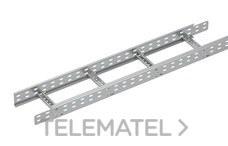 Bandeja metálica Megaband® tipo escalera con travesaños soldados de 85x600 mm con borde de seguridad y alta capacidad de carga, fabricada en acero, acabado galvanizado caliente GC. Longitud 3 m. con referencia 92033600 de la marca PEMSA.