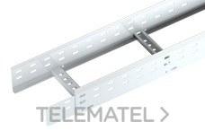 Bandeja metálica Megaband® tipo escalera con travesaños soldados de 85x800 mm con borde de seguridad y alta capacidad de carga, fabricada en acero, acabado galvanizado caliente GC. Longitud 6 m. con referencia 92133800 de la marca PEMSA.