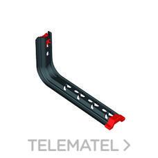 Soporte Omega Universal SPLUS para bandejas Rejiband® y Pemsaband® montaje pared/techo, de 200mm de ancho, en acero, acabado BLACK C8 . con referencia 62081204 de la marca PEMSA.