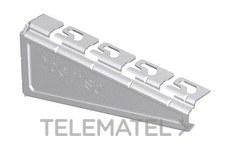 Soporte reforzado RPLUS para bandejas Rejiband®, Pemsaband® y Megaband® de 200 mm de ancho, en acero, acabado sendzimir PG. con referencia 62025203 de la marca PEMSA.