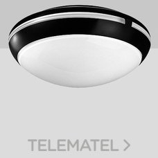 Aplique techo AURA 38 1x100W E27 negro con referencia 001114 de la marca PERFORMANCE IN LIGHTING.