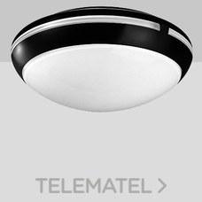 Aplique techo AURA 38 máximo 2x60W E27 negro con referencia 001112 de la marca PERFORMANCE IN LIGHTING.