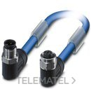 CABLE BUS SAC-3P-M12MR/2,0-961M12FRVA 2m con referencia 1419129 de la marca PHOENIX.