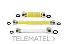 "CONEXION FLEXIBLE EXTENSIBLE HEMBRA-HEMBRA 1/2-3/4"" 200-340mm con referencia 201234 de la marca POTERMIC."